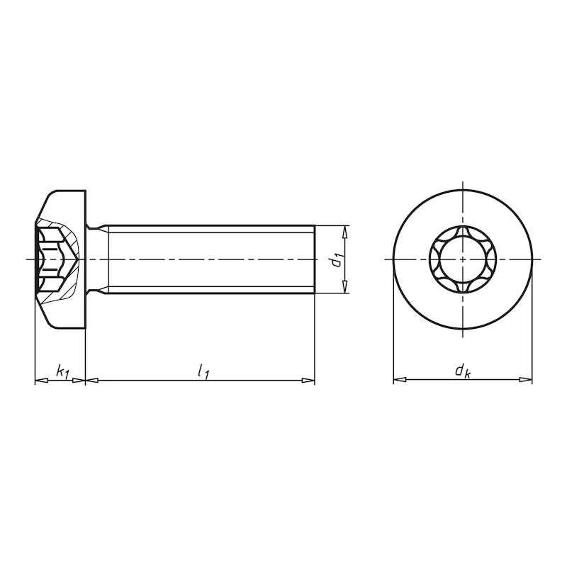 Flachkopfschraube mit Innensechsrund - SHR-FLKPF-ISO14583-8.8-(ZNBHL)-M6X45