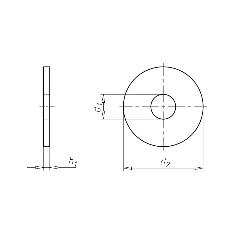 Scheibe Form LL - SHB-NFE25514-(A2)-LL-4,3X16X0,8
