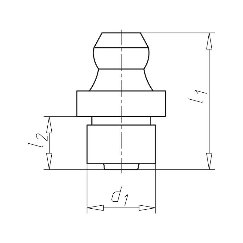 Kegel-Einschlagnippel Form A - 2