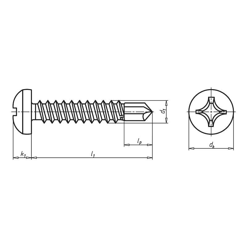 Vis de façade autoperceuse à tête cylindrique bombée et empreinte cruciforme&nbsp;H piasta<SUP>®</SUP> - 2