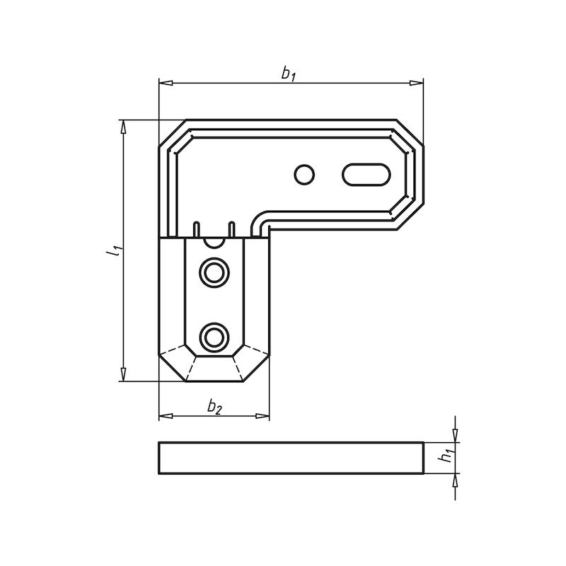 Terrassenverbinder Winkel - VERBPL-MET-TERAS-ALU-60X60X7