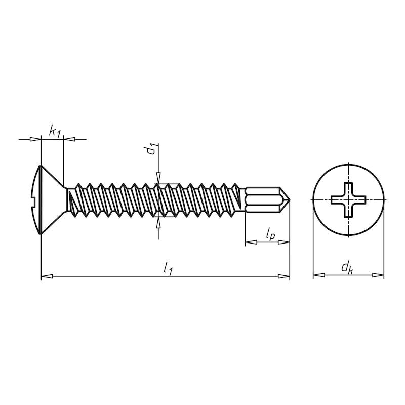 Bohrschraube Linsensenkkopf mit Kreuzschlitz H pias<SUP>®</SUP> - 2