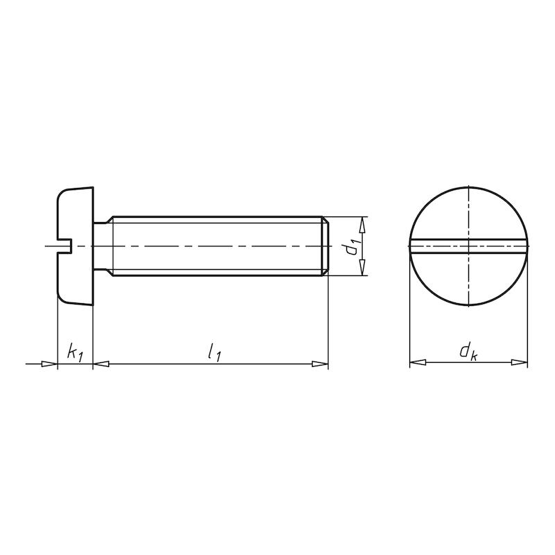 Flachkopfschraube mit Schlitz - SHR-FLKPF-DIN85-MS-(E2J)-M6X20