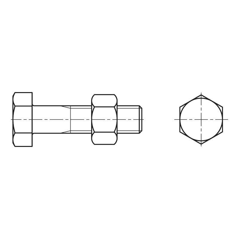 Vis à tête hexagonale à filetage partiel - 2