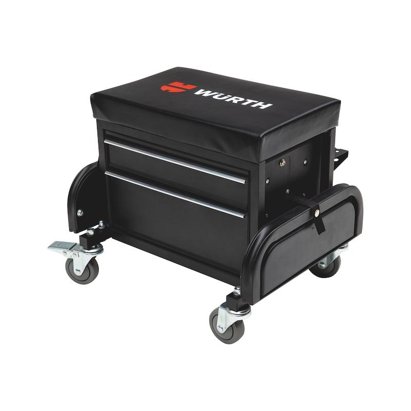Caisse à outils avec siège sur roulettes - CAISSE À OUTILS AVEC SIÈGE À ROULETTES