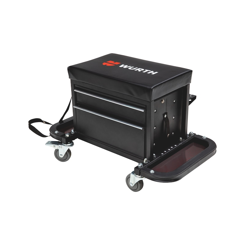 Caisse à outils avec siège sur roulettes - 1