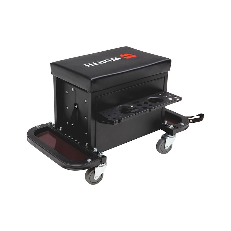 Caisse à outils avec siège sur roulettes - 3