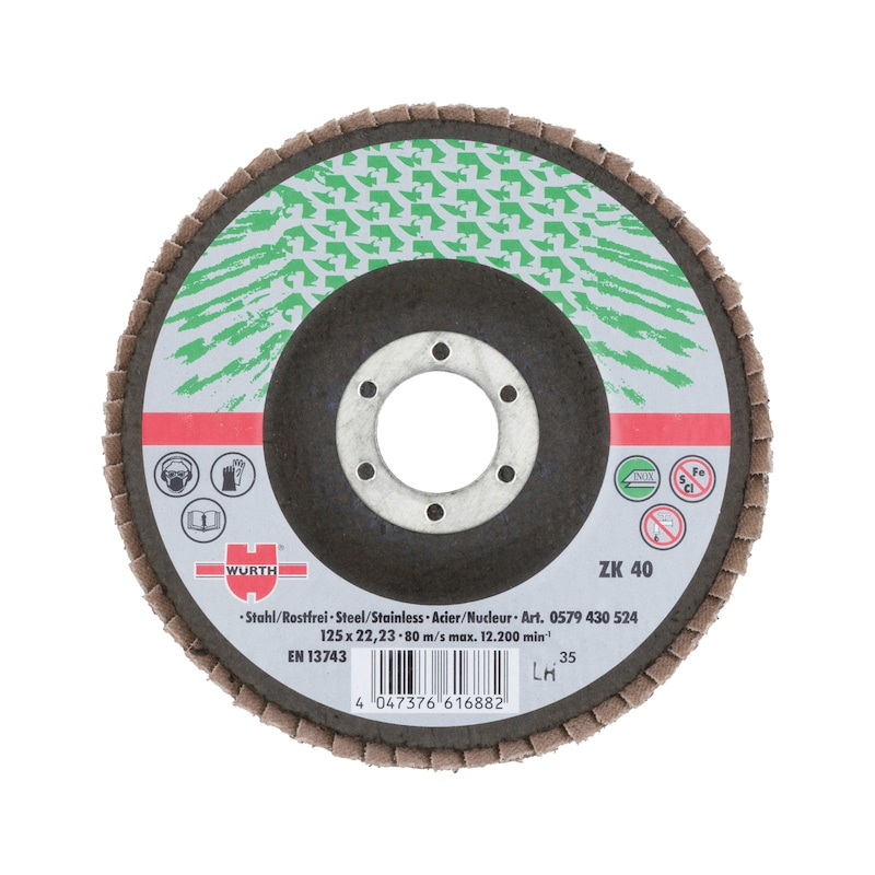 Lamellenfächerschleifscheibe Edelstahl - LFSHLFSHB-0579430516-GROSSPACK