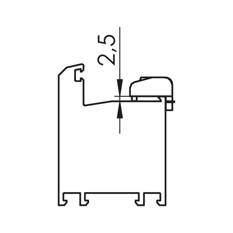 Fensterfalzlüfter Typ A - 6