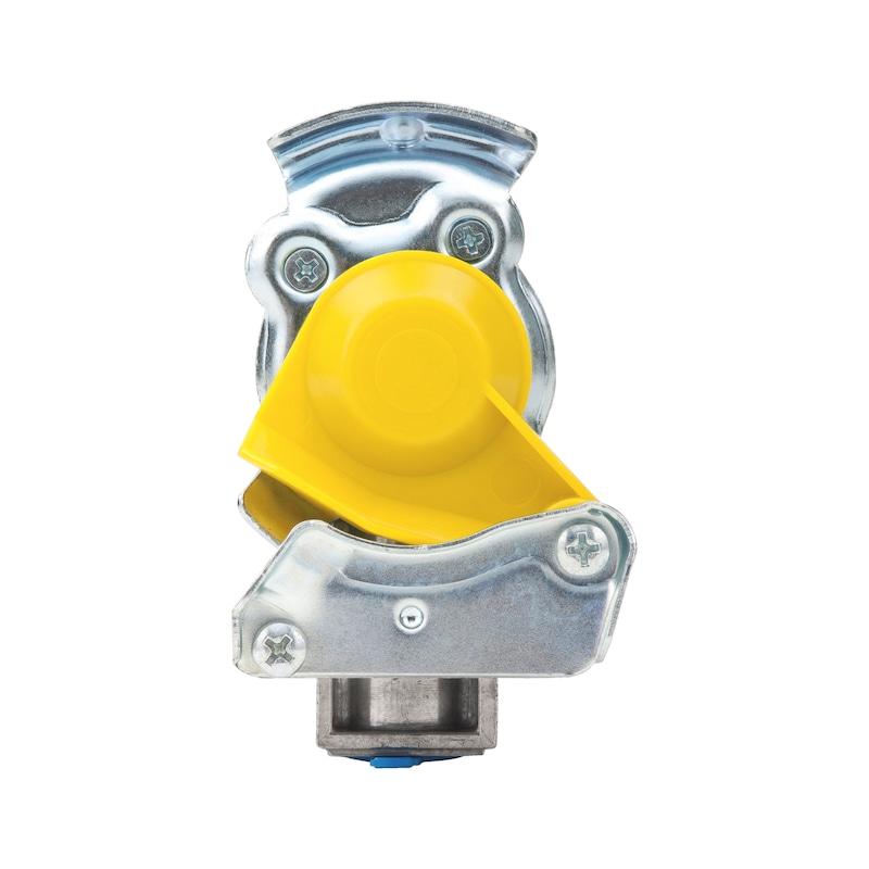 Kupplungskopf mit integriertem Leitungsfilter und Prüfanschluss - 1