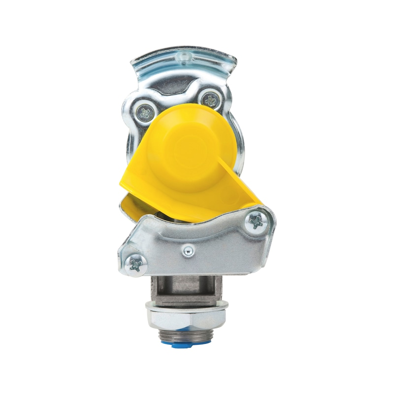 Kupplungskopf mit integriertem Leitungsfilter und Prüfanschluss - KUPPLKPF-PRUEFANSCHL-FILTER-GELB-M16X1.5