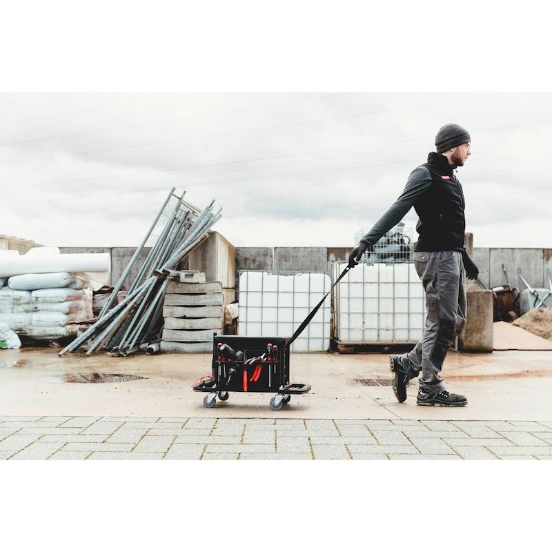 Caisse à outils avec siège sur roulettes - 6