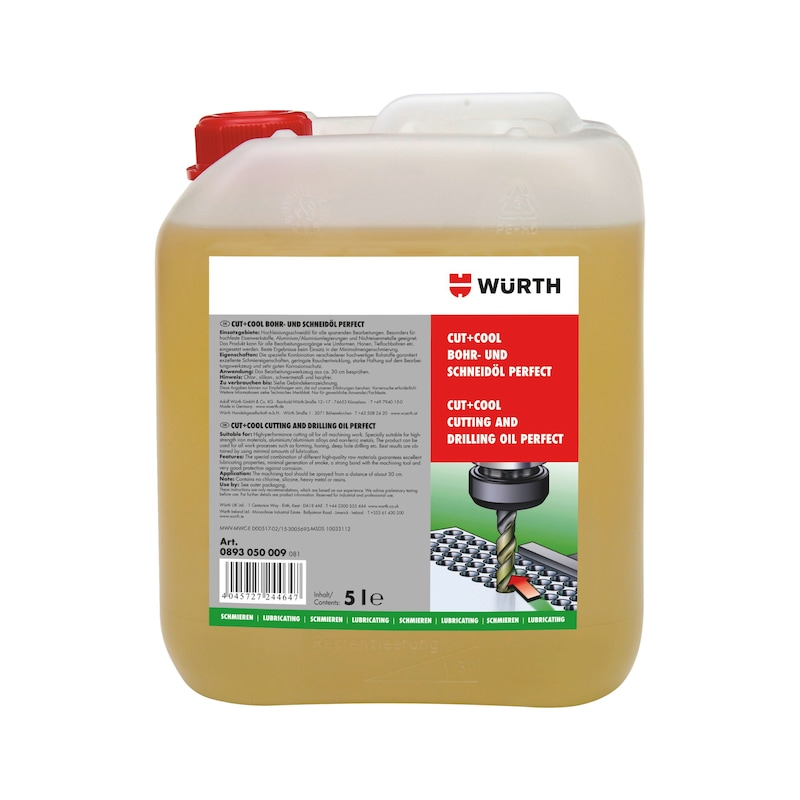 Cutting and drilling oil CUT+COOL Perfect - CUTOIL-PERFECT-(CUT-COOL)-5LTR