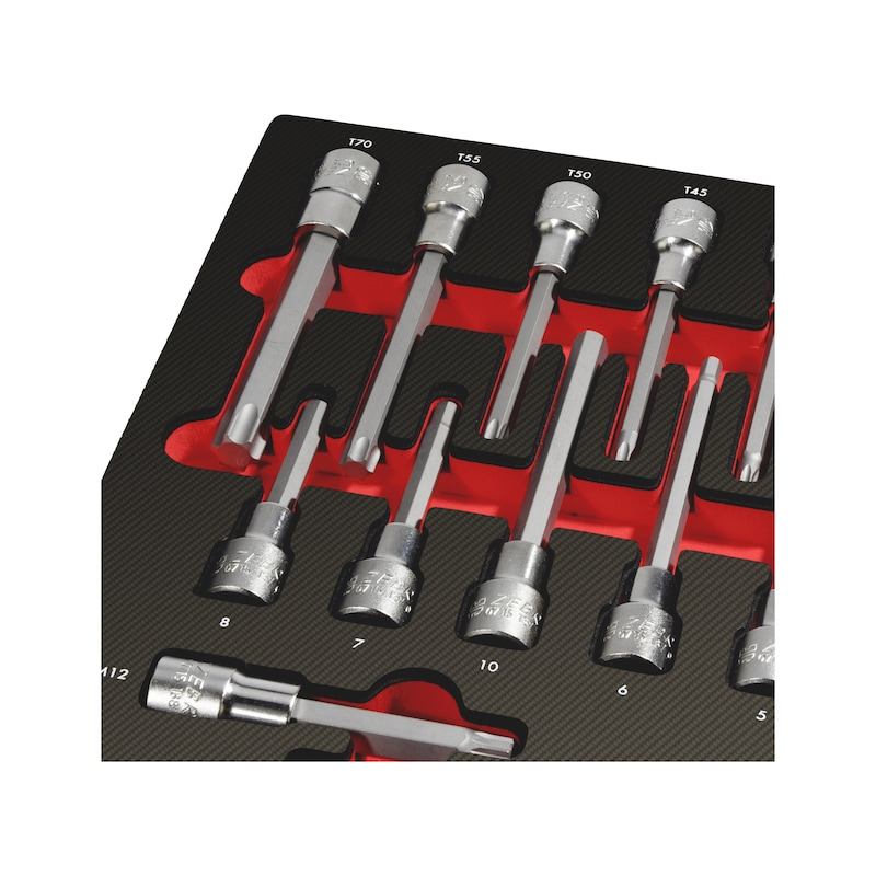 Socket wrench set 1/2 inch 4.4.1, 13 pieces - MODULO 4.1.1. CHAVES CAIXA 1/2 TX - 13