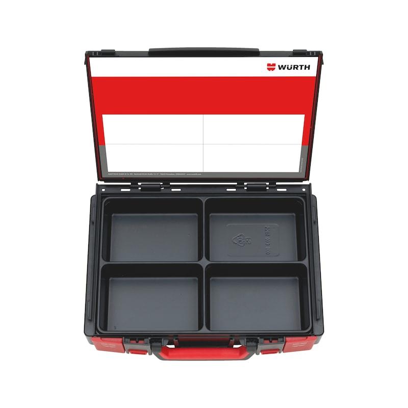 系统盒空组套 4.4.1 - 系统物料箱-4.4.1.-4空格塑料内衬