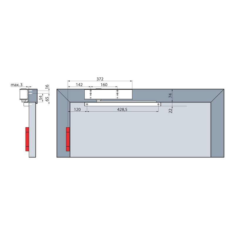 Türschließer  GTS 640 G mit Gleitschiene - 3