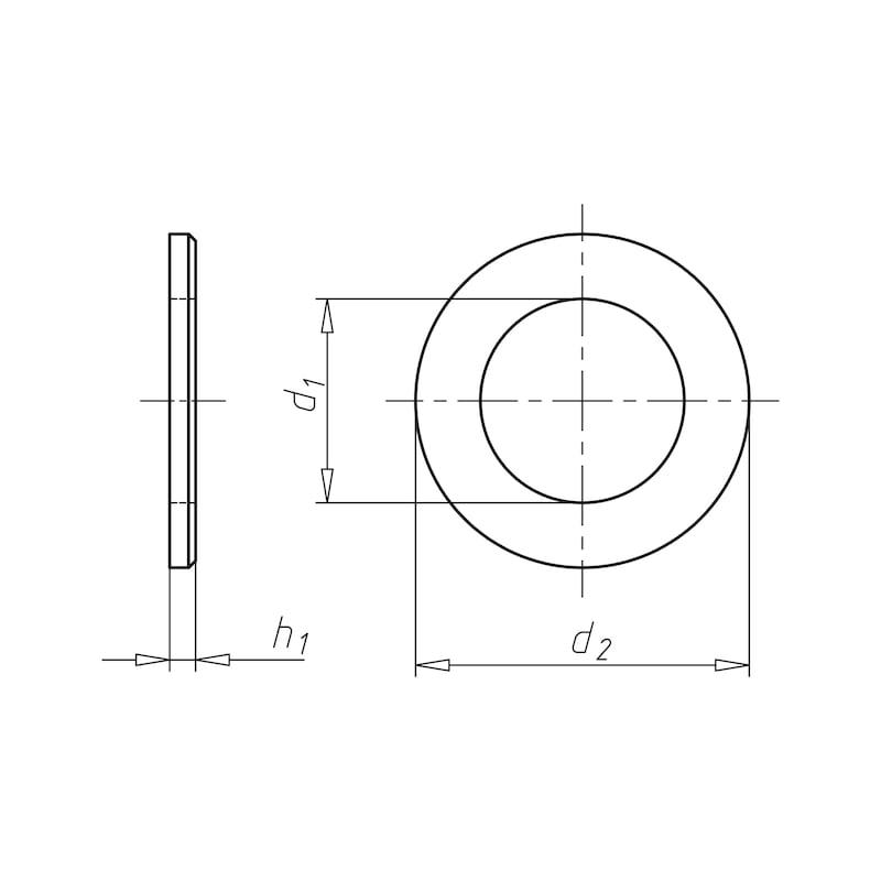 Flache Scheibe mit Fase - SHB-ISO7090-200HV-(ZNBH)-30