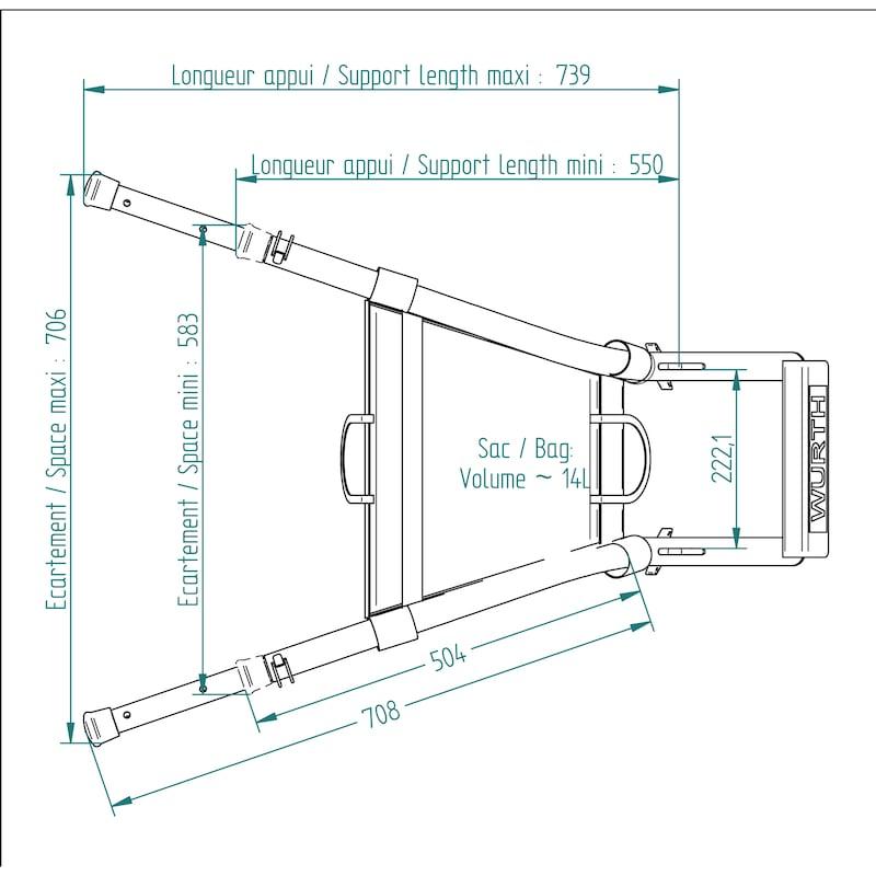 Ecarteur de façade en aluminium pour échelles - 5