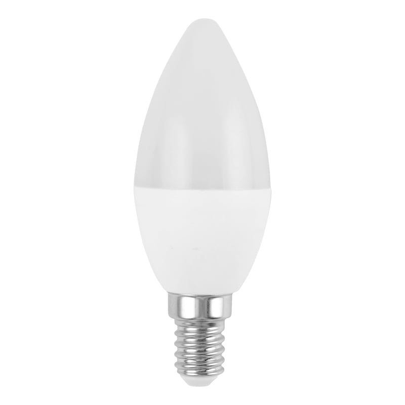 Ampoule LED, E14 en forme de flamme, sans variation d'intensité