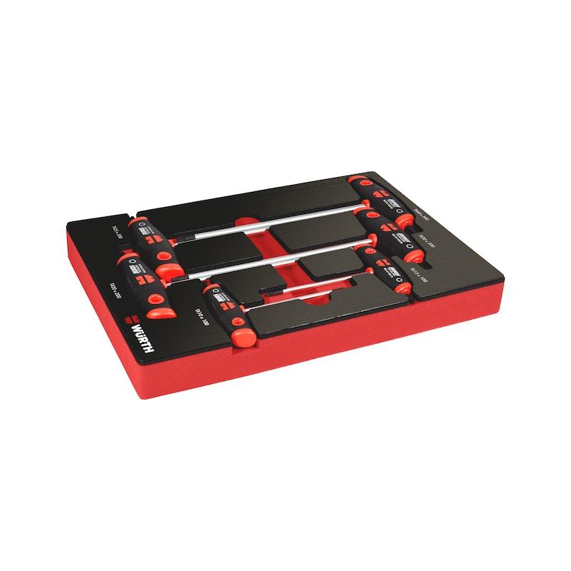 T-handle screwdriver set, TX 4.4.1, 6pcs. - MODULO 4.4.1. CHAVES EM T TX 6 PCS