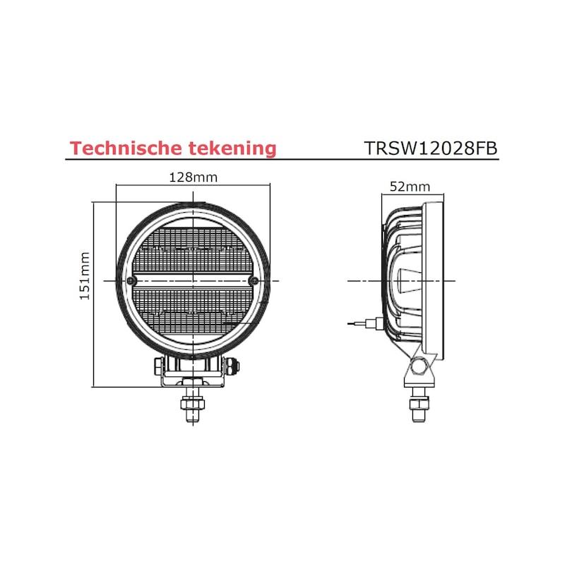 LED werklamp 16 x 1,5 watt philips LED's - 2272 lumen - LED-WERKLAMP-24W-2272LUMEN-(9-36V)
