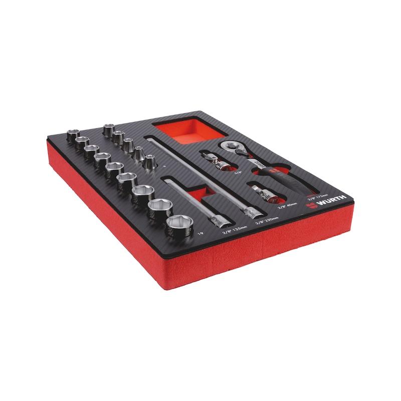 System-Sortiment 4.4.1 Steckschlüssel 3/8 Zoll - 3