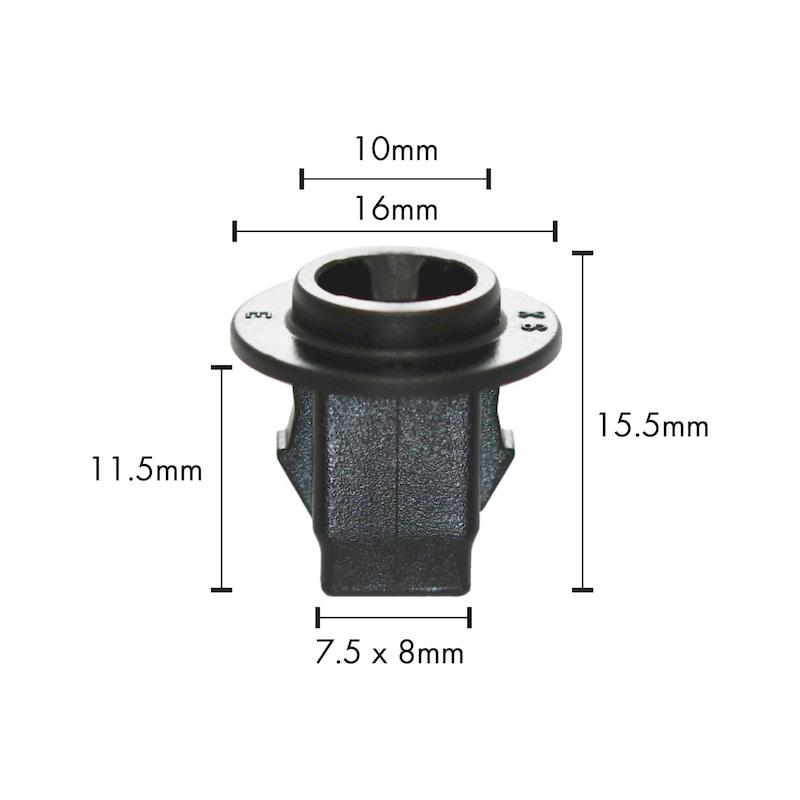 拡張ナット タイプS - 日産 スクリュグロメット 76881-JG00A