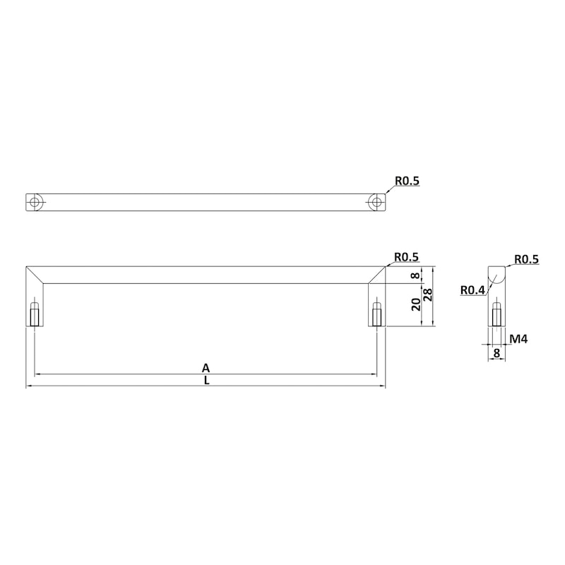 Design-Möbelgriff  MG-ZD 21 - 2