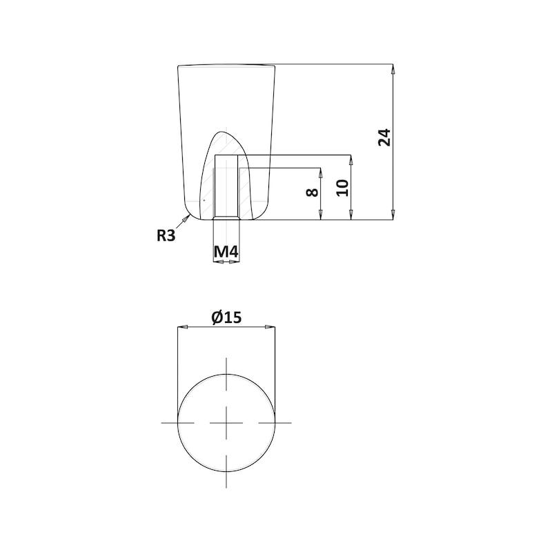 Bouton de meuble MK-ZD 10 - 3