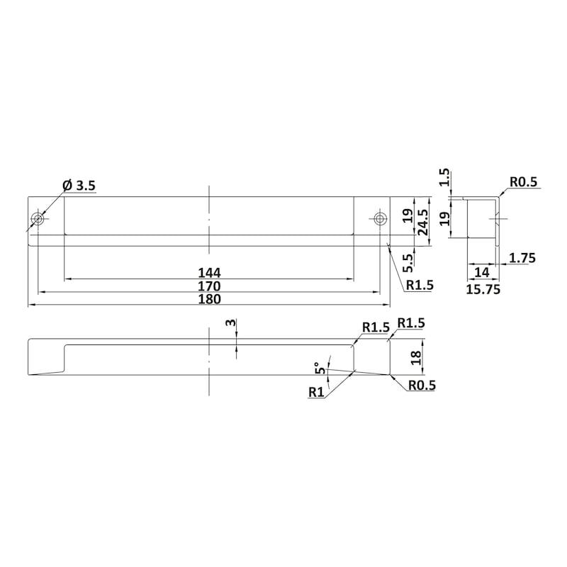 Möbelmuschelgriff MUG-ZD 9 - 2