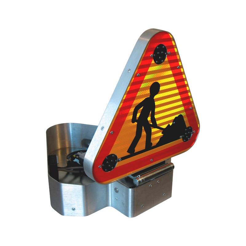 Triangle Triflash Led avec kit de relevage électrique 500mm - 2