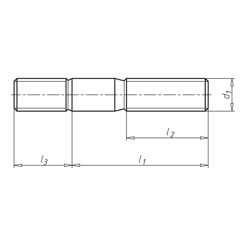 Stiftschraube mit Einschraubende ≈ 2d - STI-DIN835-5.8-M10X35