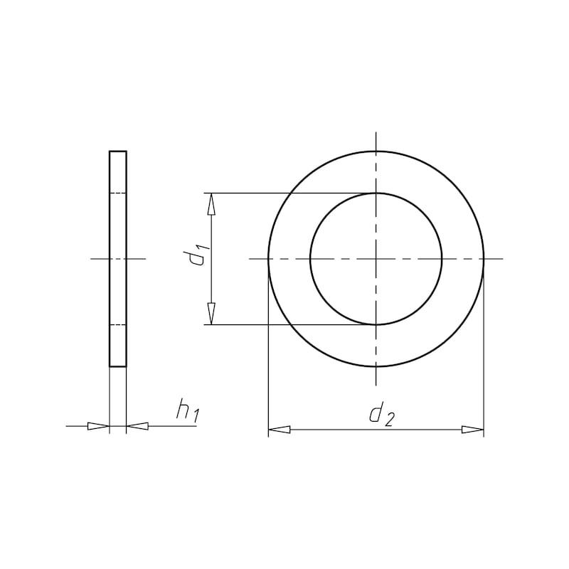 Unterlegscheibe Holzkonstruktion - SHB-HO-DIN1052-(A2K)-23X80X8