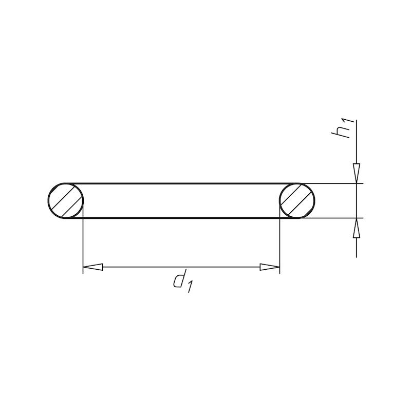 ISO 3601 Perbunan70 metrik - RG-O-ISO3601-NBR70-494,00X4,00
