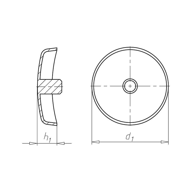 Abdeckkappe überlappend, für Senk- und Linsenkopf Z3 - ABDEKA-UEBLAP-(0910610)-WEISS