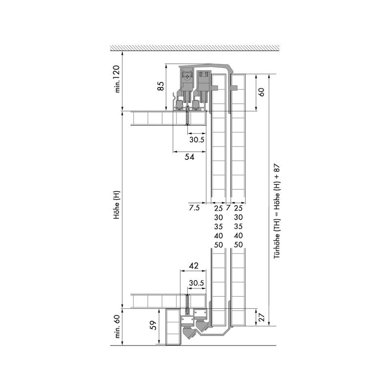Soft-Close-Beschlags-Set für Außenschiebetüren - 2