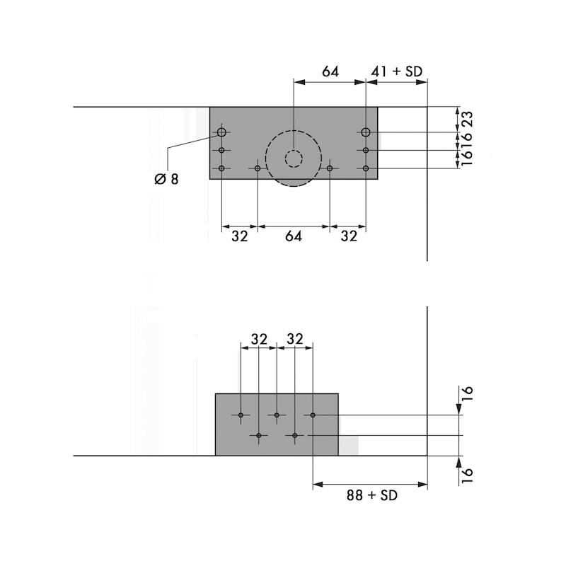 Soft-Close-Beschlags-Set für Außenschiebetüren - 3
