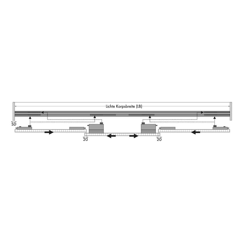 Soft-Close-Beschlags-Set für Außenschiebetüren - 5