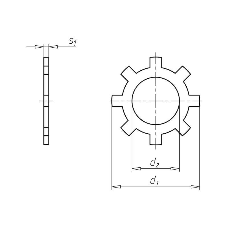 Sicherungsring für Bohrung Form ZJ - 2