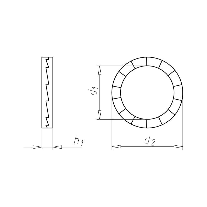 Keilsicherungsscheibe schmale Form - SHB-KEILSI-SF-A4-21,4X30,7X3,6
