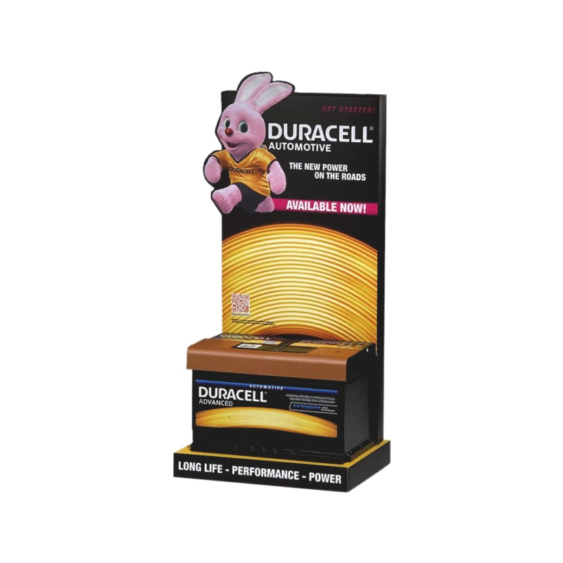 Display shelf for starter battery, DURACELL<SUP>®</SUP>