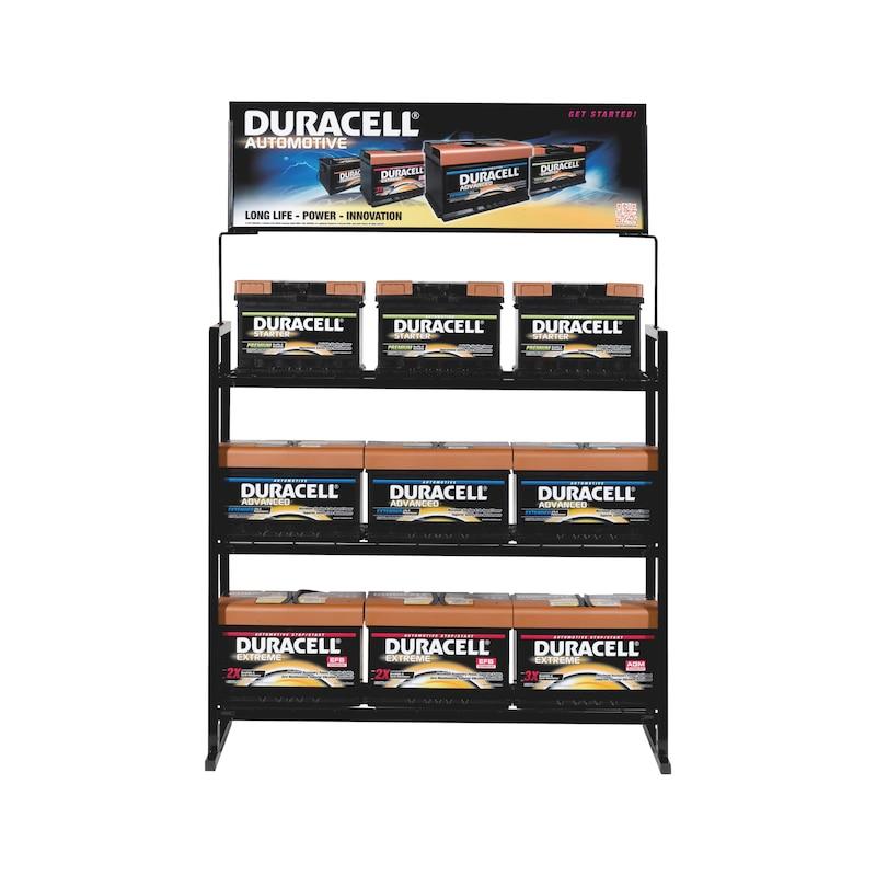 Regalschild für Starterbatterie DURACELL<SUP>®</SUP>