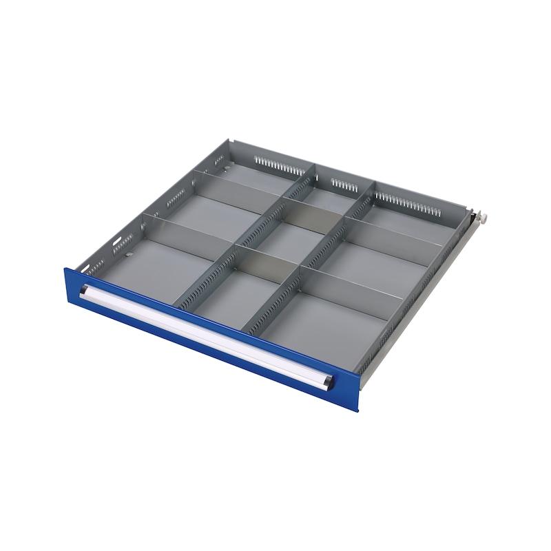 Kit divisori per cassetti BASIC, 9 scomparti