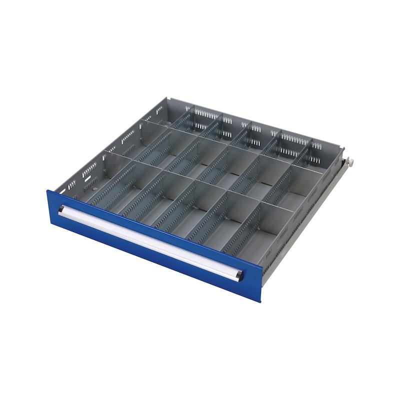 Kit de séparateur de tiroir BASIC, 18 compartiments - KIT SÉPARATEUR DE TIROIRS, 18 COMPARTIM