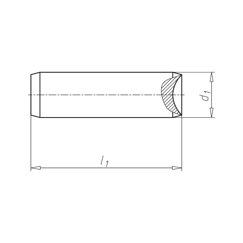 Zylinderstift ungehärtet - STI-ZYL-UNGEH-ISO2338-M6-16X100