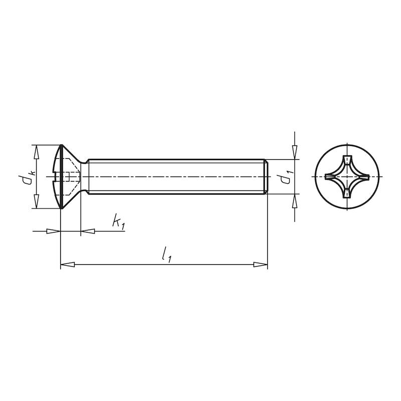 Linsensenkschraube mit Kreuzschlitz H - SHR-LISEKPF-DIN966-A2-H1-M3X16