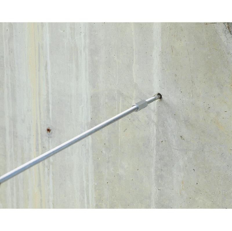 Stockschraube, verzinkter Stahl, 4.8  - 3