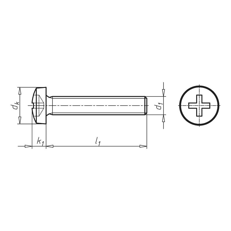 Linsenschraube mit Kreuzschlitz H - SHR-LIKPF-DIN7985-8.8-H2-(A2K)-M4X50
