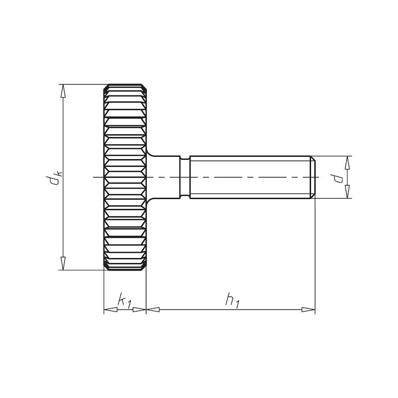 Rändelschraube, niedrige Form - SHR-RAEND-DIN653-A1-M4X10
