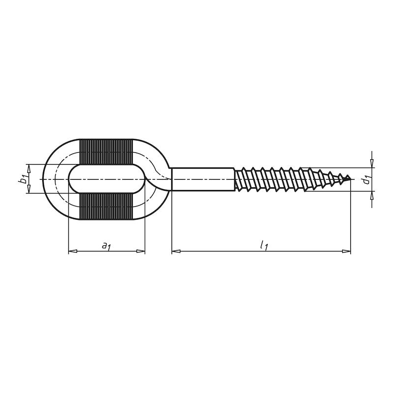 Langlochschraube mit Holzgewinde - 2